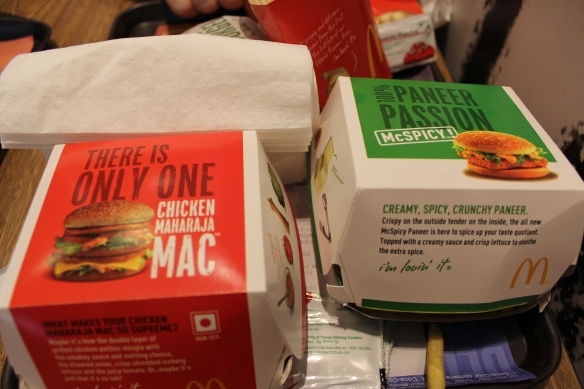 ...its the one on the right.  The Maharaja Mac (a chicken 'version' of the Big Mac) is blech.